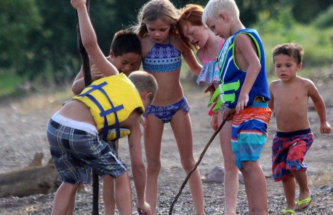 Kids at Camp Pleasant